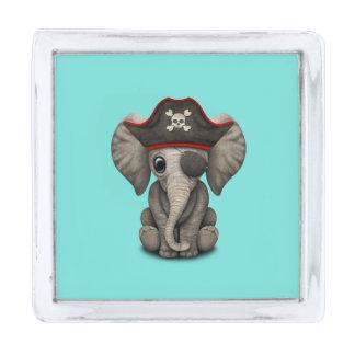 かわいいベビー象の海賊 銀色 ラペルピン