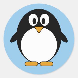 かわいいペンギンのかわいいの漫画 ラウンドシール