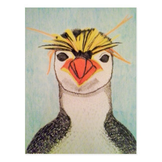 かわいいペンギンのイラストレーションの郵便はがき ポストカード