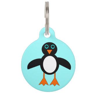 かわいいペンギンのカスタムなドッグタッグ ペット ネームタグ