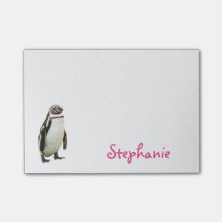 かわいいペンギンのガーリーな名前 ポストイット