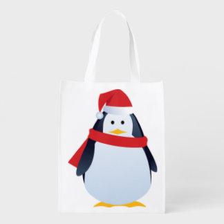 かわいいペンギンのクリスマスのデザイン エコバッグ