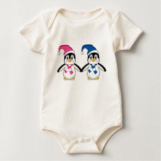 かわいいペンギンのクリーパー ベビーボディスーツ