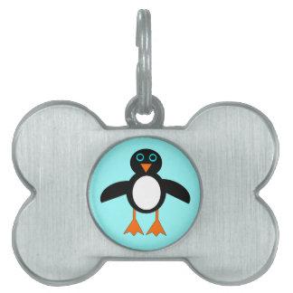 かわいいペンギンのペットタグ ペットネームタグ