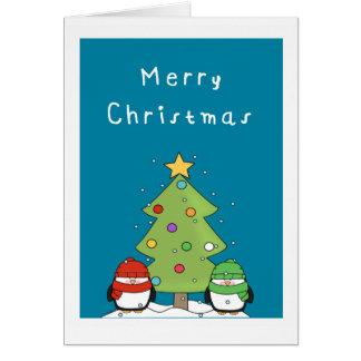 かわいいペンギンのメリークリスマス カード