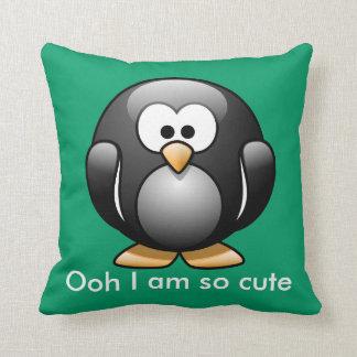 かわいいペンギンの枕緑 クッション