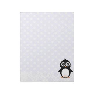 かわいいペンギンの漫画 ノートパッド