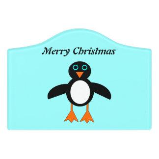 かわいいペンギンカスタムな部屋の印 ドアサイン
