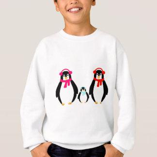 かわいいペンギン家族 スウェットシャツ