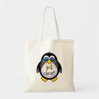 かわいいペンギン音楽によって得られるOboe トートバッグ