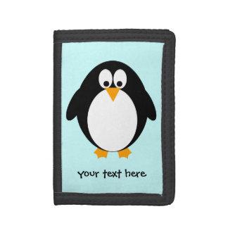 かわいいペンギン ナイロン三つ折りウォレット