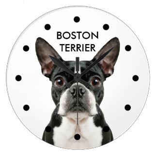 かわいいボストンテリアの柱時計 ラージ壁時計