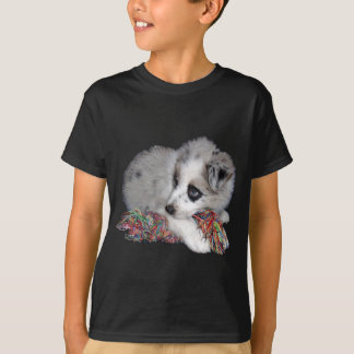 かわいいボーダーコリーの子犬 Tシャツ