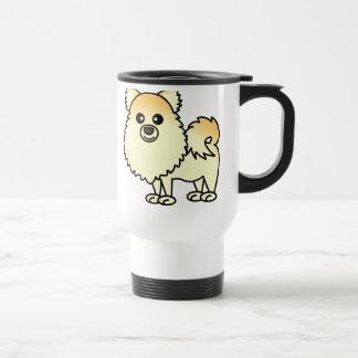 かわいいポメラニア犬の漫画 トラベルマグ