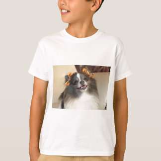 かわいいポメラニア犬犬 Tシャツ
