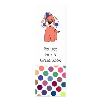 かわいいポルカドットの小犬のしおり profilecard