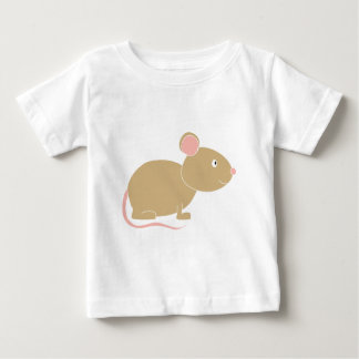 かわいいマウス ベビーTシャツ