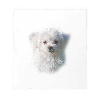 かわいいマルタ犬 ノートパッド