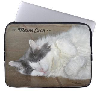 かわいいメインのあらいぐま猫のラップトップスリーブ ラップトップスリーブ