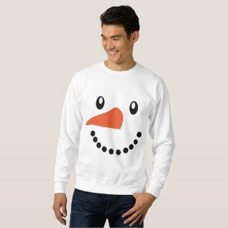 かわいいメンズ雪だるまのクリスマスのジャンパーのセーター スウェットシャツ