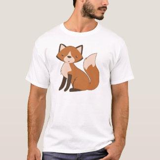 かわいいモデルのキツネ Tシャツ
