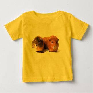 かわいいモルモット ベビーTシャツ