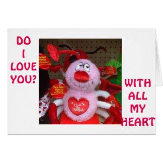 """かわいいモンスターは""""私が""""いつも愛することを言います カード"""