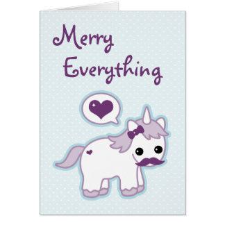 かわいいユニコーンの休日 カード