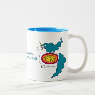 かわいいユニコーンのMitochondriaのコーヒー・マグ ツートーンマグカップ