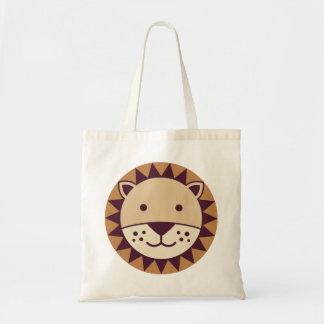 かわいいライオンの顔 トートバッグ