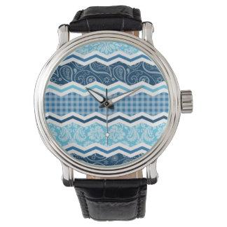 かわいいライト及び濃紺パターン 腕時計