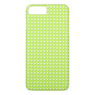 かわいいライムグリーン幾何学的なパターン-少しダイヤモンド iPhone 8 PLUS/7 PLUSケース