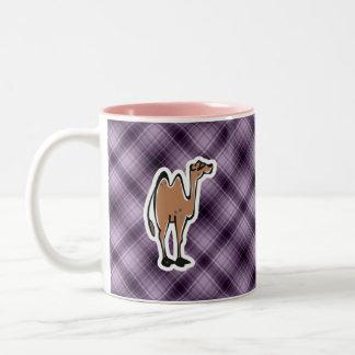 かわいいラクダ; 紫色 ツートーンマグカップ