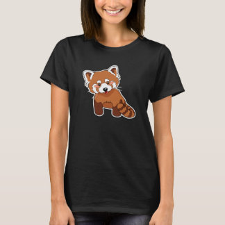 かわいいレッサーパンダのTシャツ Tシャツ