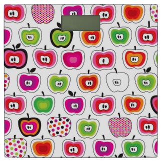 かわいいレトロのりんごパターン 体重計