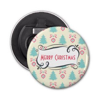 かわいいレトロのメリークリスマスパターン 栓抜き