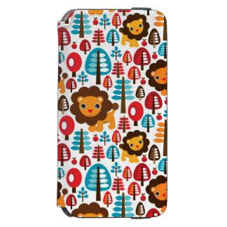 かわいいレトロのライオンは絵をからかいます INCIPIO WATSON™ iPhone 6 財布ケース