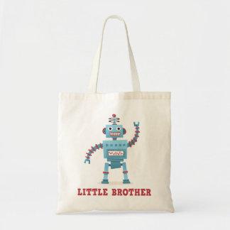 かわいいレトロのロボット漫画の人間の特徴をもつ弟 トートバッグ