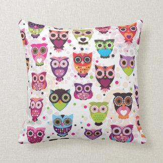 かわいいレトロの鳥のフクロウパターン枕箱 クッション