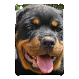 かわいいロットワイラーの子犬の顔犬 iPad MINIカバー