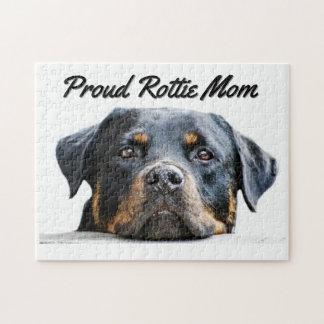 かわいいロットワイラー犬の品種|誇り高いRottieお母さん ジグソーパズル
