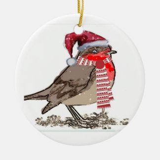 かわいいロビンのクリスマスの装飾のオーナメント セラミックオーナメント