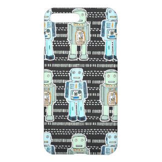かわいいロボットデザインのiphoneの場合 iPhone 8 plus/7 plusケース