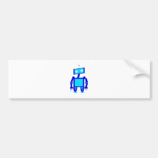 かわいいロボット バンパーステッカー