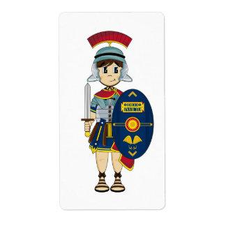 かわいいローマの兵士のステッカーのラベル ラベル