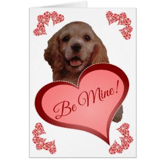 かわいいヴィンテージのコッカースパニエルのカスタムなバレンタインカード カード