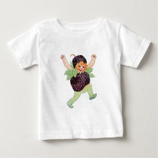 かわいいヴィンテージのブラックベリーの女の子 ベビーTシャツ