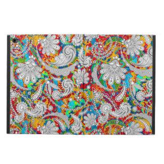 かわいいヴィンテージの多彩で白いペーズリーパターン POWIS iPad AIR 2 ケース