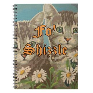 かわいいヴィンテージPBN猫およびおもしろいなデイジーのノート ノートブック