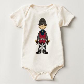 かわいい中世騎士クリーパー ベビーボディスーツ